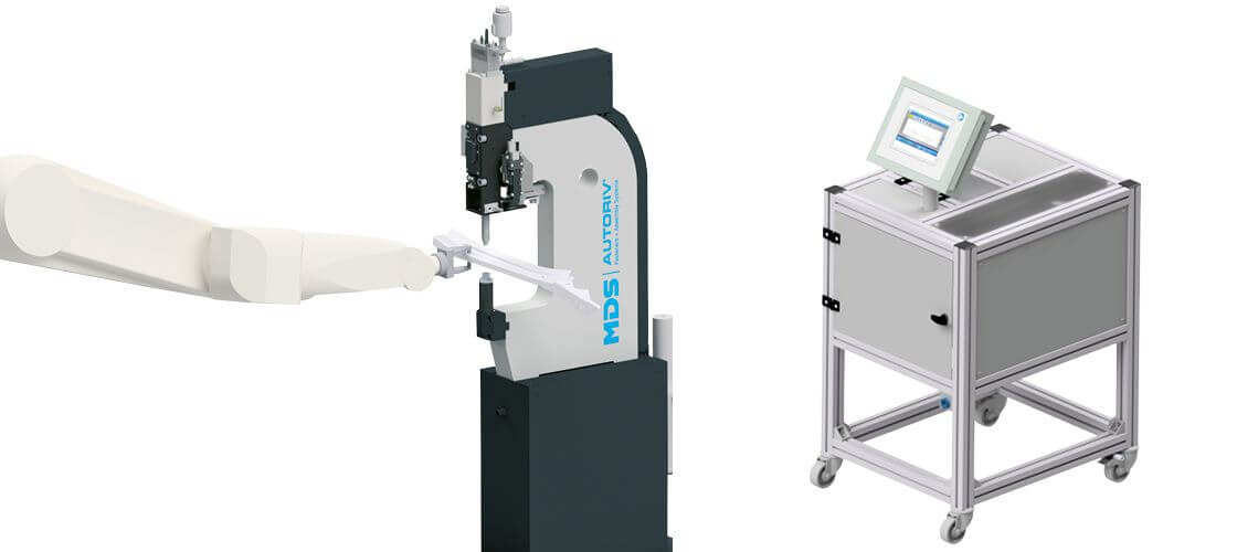 Stationary robotic workstations with automated feeding of small parts or fasteners